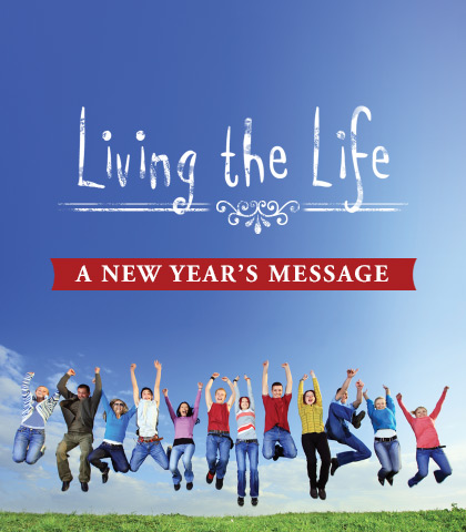 Artwork for Living the Life: A New Year's Message