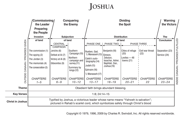 a summary of the book of joshua in the bible The book of joshua is an excellent book in if you have read the summary given these studies are ideal for use for in a personal study time or bible.